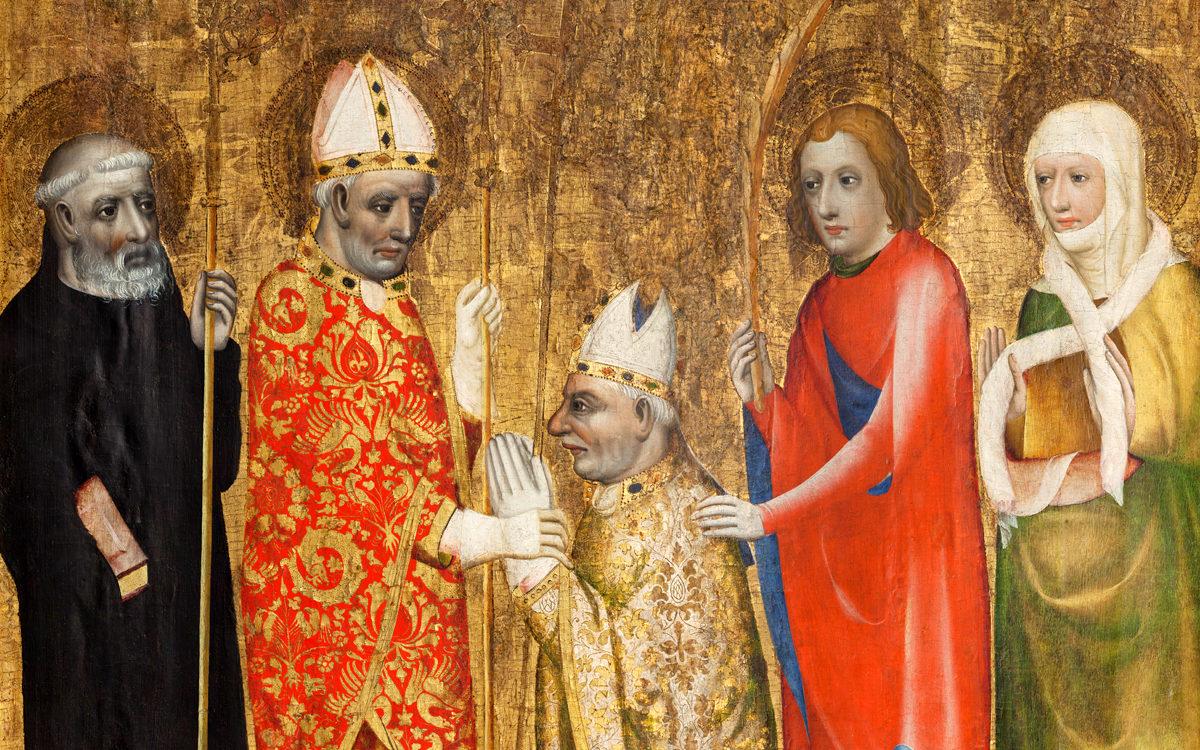 Karel IV., výřez z votivního obrazu Jana Očka z Vlašimi, kolem roku 1371