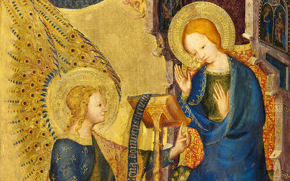 Zvěstování Panně Marii, Severní Francie nebo Nizozemí, 1350-1360